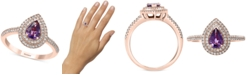 EFFY Collection EFFY® Purple Sapphire (7/8 ct. t.w.) Diamond (3/8 ct. t.w.) Ring in 14k Rose Gold