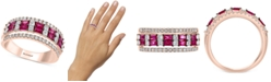 EFFY Collection EFFY® Certified Ruby (5/8 ct. t.w.) & Diamond (3/4 ct. t.w.) Band in 14k Rose Gold