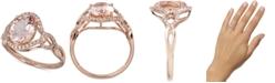 Macy's Morganite (2-1/2 ct.t.w.) & Diamond (1/6 ct. t.w.) Ring in 14k Rose Gold