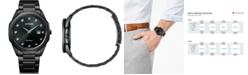 Citizen Eco-Drive Men's Corso Diamond-Accent Black Stainless Steel Bracelet Watch 41mm