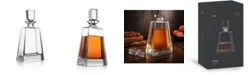 JoyJolt Luna Crystal Whiskey Decanter, 23.6 Oz