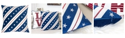 Homey Cozy Stripes Independence Day Square Decorative Throw Pillow