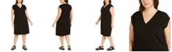 Eileen Fisher Plus Size Cap-Sleeve Popover Dress