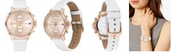 Tommy Hilfiger Women's Chronograph White Leather Strap Watch 38mm