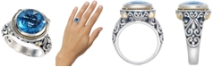 EFFY Collection Balissima by EFFY® Blue Topaz Round Ring in 18k Gold and Sterling Silver (5-3/4 ct. t.w.)