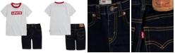 Levi's Baby Boys 2-Pc. Logo-Print T-Shirt & Denim Shorts Set