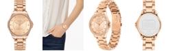 COACH Women's Astor Rose Gold-Tone Stainless Steel Bracelet Watch 31mm