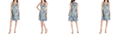24seven Comfort Apparel Paisley A-Line Fit and Flare Mini Dress