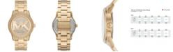 Michael Kors Ritz Three-Hand Gold-Tone Stainless Steel Watch