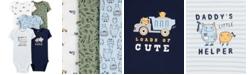 Carter's Baby Boys Big Helper Printed Cotton Bodysuits