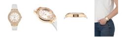 Versus by Versace Women's Vittoria White Leather Strap Watch 38mm