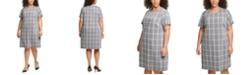 Tommy Hilfiger Plus Size Plaid Shift Dress