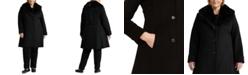 Lauren Ralph Lauren Plus Size Faux-Fur-Collar Coat, Created for Macy's