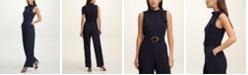 DKNY Tie-Neck Jumpsuit