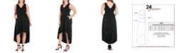 24seven Comfort Apparel Women's Plus Size High Low Party Dress