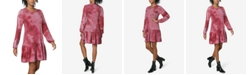 Ultra Flirt Juniors' Tie-Dye Drop-Waist Dress