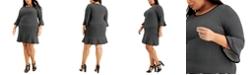 Michael Kors Plus Size Sailor Grid A-Line Dress