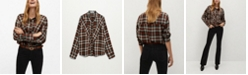 MANGO Women's Check Shirt