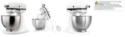 KitchenAid KSM75WH Classic Plus 4.5-Quart Tilt Head Stand Mixer