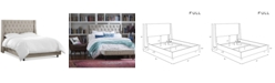 Skyline Marcone Wingback Bed - Full