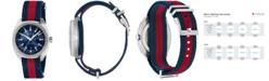 Gucci Men's GG2570 Swiss Blue-Red-Blue Web Nylon Strap Watch 41mm YA142304