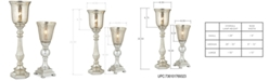 Kathy Ireland Pacific Coast Set of 2 Antique Mercury Shade Uplight Table Lamps