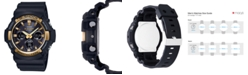 G-Shock Men's Solar Analog-Digital Black Resin Strap Watch 53mm