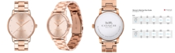 COACH Women's Grand Rose Gold-Tone Stainless Steel Watch 36mm