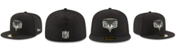 New Era Seattle Seahawks Black And White 59FIFTY Fitted Cap