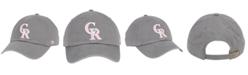 '47 Brand Colorado Rockies Dark Gray Pink CLEAN UP Cap