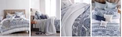 Peri Home Cotton Reversible Matelassé Medallion King Duvet Cover