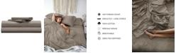 Pillow Guy Classic Cool & Crisp 100% Cotton Percale 4-Piece Sheet Set- Cal King