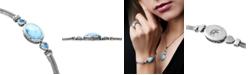 Marahlago Larimar & Blue Topaz (3/4 ct. t.w.) Multi-Strand Bracelet in Sterling Silver