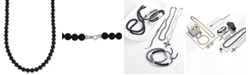 """Esquire Men's Jewelry Onyx (8mm) 30"""" Necklace, Created for Macy's"""