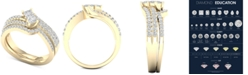 Macy's Diamond Two-Stone Bridal Set (7/8 ct. t.w.) in 14k Gold