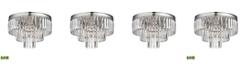ELK Lighting Palacial 3 Light Semi Flush in Polished Chrome