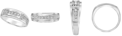 Macy's Men's Diamond Band (1/2 ct. t.w.) in 10k Yellow Gold and 10k White Gold