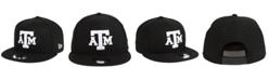 New Era Texas A&M Aggies Black White Fashion 9FIFTY Snapback Cap