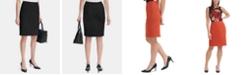 Calvin Klein Scuba Crepe Pencil Skirt