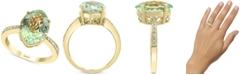 EFFY Collection EFFY® Green Quartz (4-7/8 ct. t.w.) & Diamond (1/8 ct. t.w.) Ring in 14k Gold
