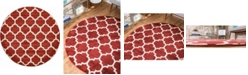 Bridgeport Home Arbor Arb1 Red 6' x 6' Round Area Rug