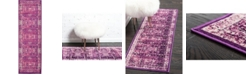 "Bridgeport Home Linport Lin1 Lilac 3' x 9' 10"" Runner Area Rug"