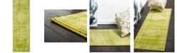 Bridgeport Home Linport Lin5 Light Green 2' x 6' Runner Area Rug