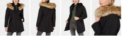 INC International Concepts INC Petite Hooded Faux-Fur-Trim Puffer Coat, Created for Macy's