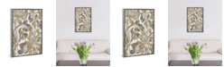 """iCanvas Painted Tropical Screen I Gray Gold by Silvia Vassileva Gallery-Wrapped Canvas Print - 40"""" x 26"""" x 0.75"""""""
