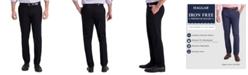Haggar Men's Iron Free Premium Khaki Slim-Fit Flat-Front Pant