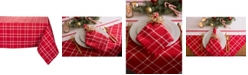 Design Imports Holly Berry Plaid Tablecloth