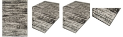 """D Style CLOSEOUT! Logan Lo5 Pewter 7'10"""" x 10'7"""" Area Rugs"""