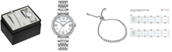 Bulova Women's Stainless Steel Bracelet Watch 33mm Gift Set