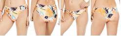 Roxy Juniors' Swim the Sea High-Leg Printed Bikini Bottoms